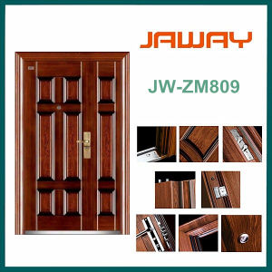 Jw-Zm809, Commercial Steel Double Door in Heat-Transfer, Nonstandard Steel Door. pictures & photos