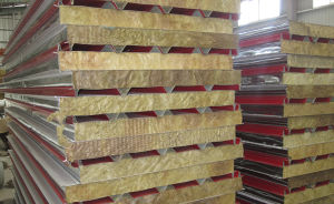 Fire Resistant Rock Wool Sandwich Roof Panel pictures & photos