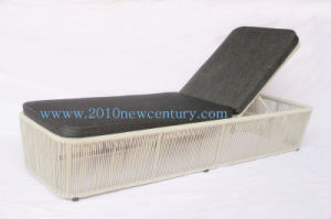Outdoor Rattan Lounger Sunbed