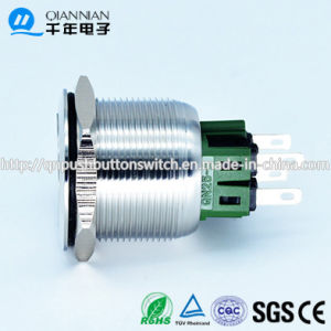 Qn25-B1 25mm Momentary|Latching Flat Head Metal Logo Tact Switch on-off Switch pictures & photos