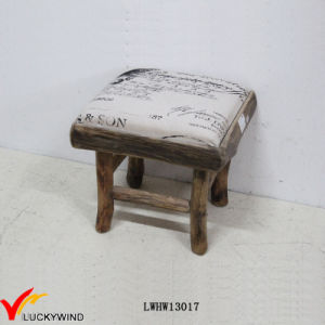 Magnificent China Square Eco Small Fabric Upholstered Wooden Stool Customarchery Wood Chair Design Ideas Customarcherynet
