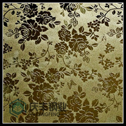 201 304 Mirror Etched Titanium Decoration Stainless Steel Sheet (end product 03)