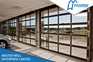 Residential Aluminum Full View Transparent Sectioanl Garage Door pictures & photos