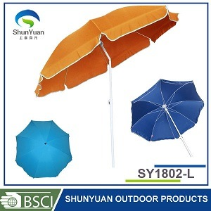 Umbrella Type and Stainless Steel Pole Material Beach Umbrella (SY1802-L)