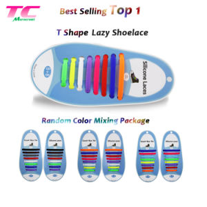 Amazon Top Selling Silicone Elastic No Tie Shoelace 13 Colors Flat Rubber Shoelaces
