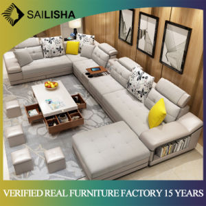 Hot Sale L Shaped Genuine Leather Sofa Sectional Corner Sofa Living Room  Sofa Set 7 Seater Couch