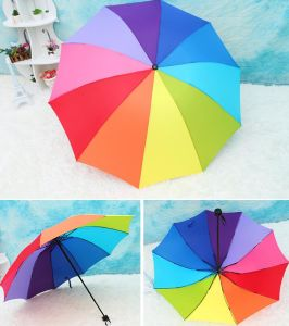 Fold up Manual Opening Advertising Rainbow Umbrella pictures & photos