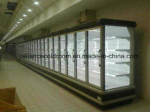 Slim Display Refrigerator Showcase for Supermarket pictures & photos