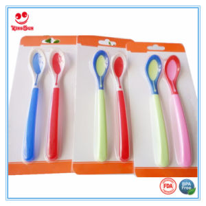 New Design Temperature Sensing Baby Feeding Spoon pictures & photos