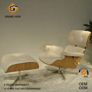 Natural Wood Leather Leisure Chair (GV-EA670) pictures & photos