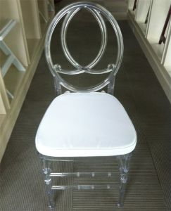 Clear Crystal Plastic Phoenix Chair for Banquet pictures & photos