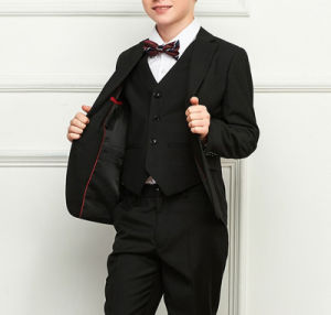 Wholesale Fashion Good Quality Winter School Boy′s Black Suits for School Wear