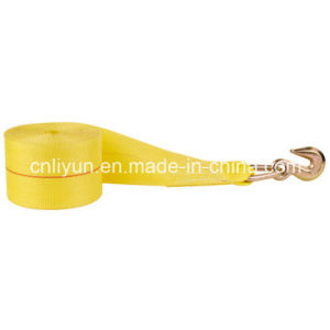 4′′ Winch Strap / Cargo Tie Down Strap with Grab Hook
