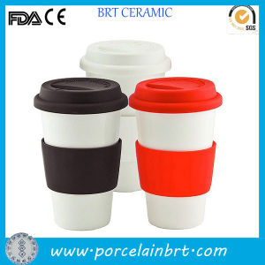 Wholesale Ceramic Coffee Travel Mug with Silicone Lid pictures & photos
