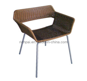 Stainless Steel and Wicker Chair (RCR014)
