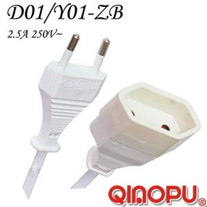 European Two Wire Extension Cord (D01/Y001-ZB)