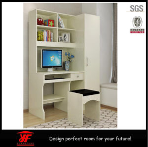 China Pictures of Wooden Bedroom Wardrobe Computer Table with ...