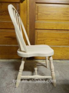 Rch-4175 New Solid Oak Wood Childrens White Chair pictures & photos
