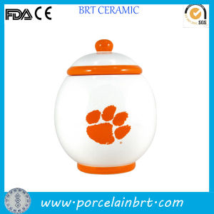 Orange Tiger Paw Novelty Porcelain Pet Jar pictures & photos
