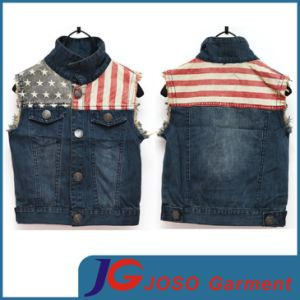 Cute and Cool Boy Jean Vest (JT8014) pictures & photos