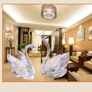 China Wedding Gift Crystal Glass Swan Wholesale Crystal Gift Or Home