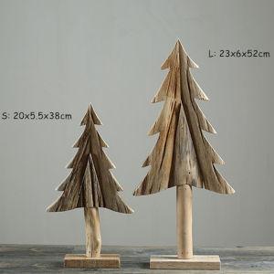Creative Wooden Christmas Tree 100 Handmade Natural Wood Craft Home Office Decor
