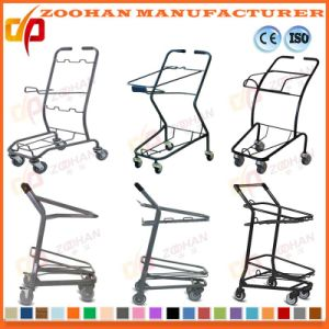 Metallic Wire Compact Grocery Supermarket Handling Shopping Cart Trolley (Zht208) pictures & photos