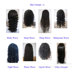 Water Wave Brazilian Virgin Human Hair Lace Wigs pictures & photos
