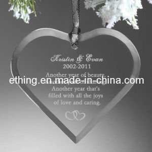 Personalized Heart Glass Souvenir Gift for Holiday Decoration pictures & photos