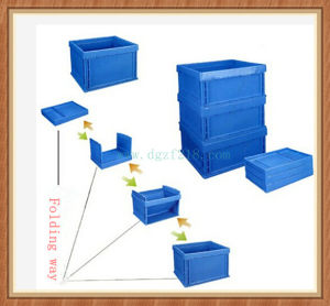 Durable Plastic Storage Folding Container for Warehouse
