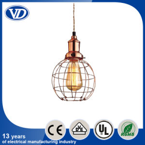 Loft Retro Industry Iron Wire Bird Cage Rose-Golden Pendant Light