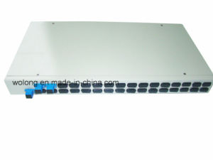1X2 Rackmount Fiber Optic Splitter Sc PC