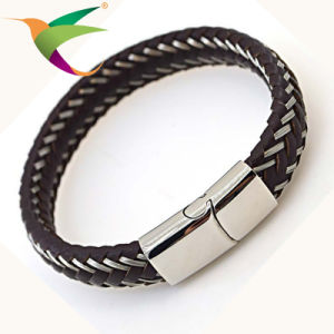 Stlb-17011016 Classical Mens Leather Designer Bracelets