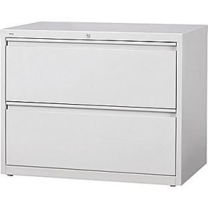 White 2 Drawer Lateral File Cabinet Metal