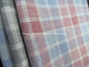 Cotton Linen Blended Yarn Dyed Check Fabric pictures & photos