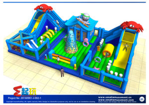 Sea World Themed Inflatable Bounce with Ball Pool