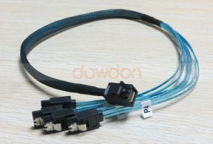 Manufacturer High Speed Mini Sas Sff-8643 to 4* SATA 7pin 12GB/S Generic Cable pictures & photos