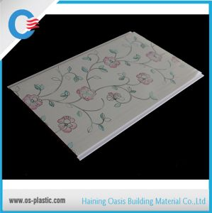 Flat PVC Ceiling Panel Popular Flower Design PVC Wall Panel pictures & photos