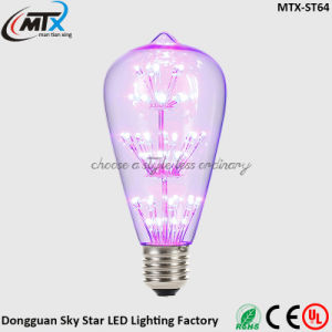 E26 E27 47 LED Bean 3W Violet ST64 Lamp Bulb pictures & photos