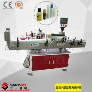 Automatic Wrap-Around Labeler for Round Bottle