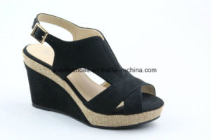 Peep Toe Wedge Design Lady Shoes Summer Sandal pictures & photos