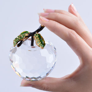 60mm Crystal Apple Paperweight for Table Decoration pictures & photos