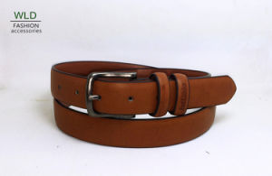 Leisure Men′s Leather Belt with Pin Buckle M869 pictures & photos