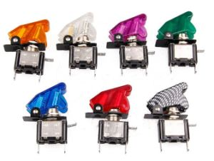12V Rocker Toggle Spst Switch with Carbon Fiber LED Control on/off pictures & photos