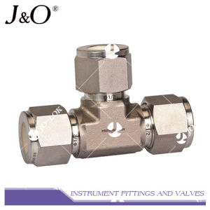 High Pressure Double Ferrule Tee Stainless Steel Pipe Fitting pictures & photos