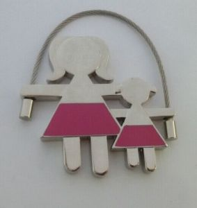 Promotional Fashion Style Metal Mother and Girl Key Chain (F1350)