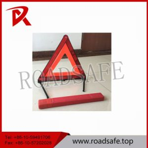 Roadway Safety Red White Plastic Emergency Warning Triangle Stand pictures & photos