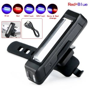 USB Rechargeable COB LED Bicycle Front Rear Bike Tail Light pictures & photos
