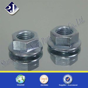 Zinc Plating Hex Flange Nut Grade 8 pictures & photos