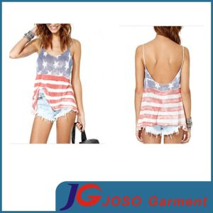 Fashion Shirt Knit Long Tank Clothing (JS9011) pictures & photos